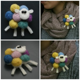 rainbow sheep collage