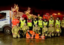Lincolnshire firefighters raise record amount for charity with Santa sleigh tour