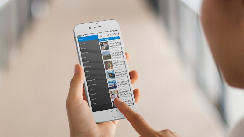 Read the news by location or category and get push notifications for breaking news