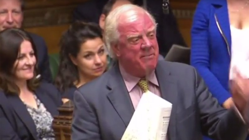 Gainsborough MP Sir Edward Leigh at PMQs on July 20