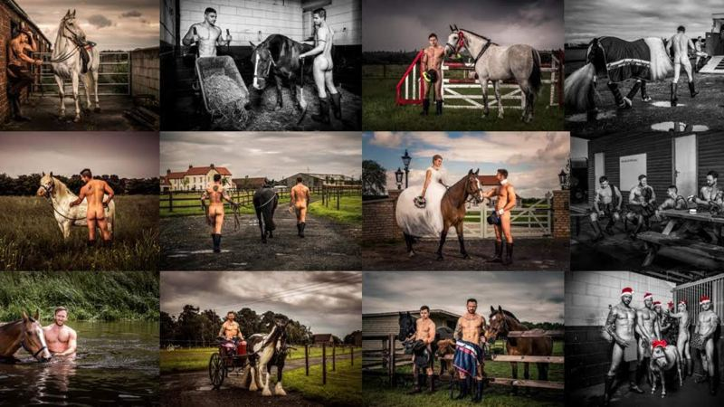 This is the final year for the 'Hunks and Horses' Calendar.