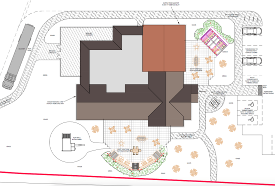 Proposed hard landscaping plan for a new Marston's pub in Grantham