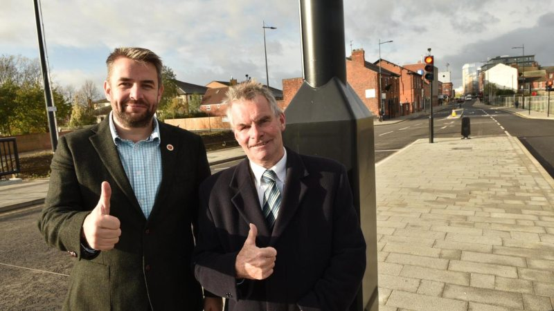 Councillor Richard Davies and Leader of Lincolnshire County Council Martin Hill. Photo: Steve Smailes for Lincolnshire Reporter