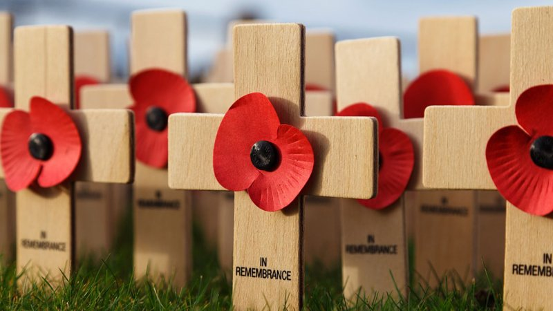 There will be a number of services and tributes across the county on Remembrance Day