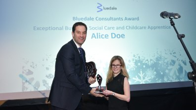 Winner of Exceptional Business, Social Care and Childcare Apprentice, Alice Doe. Photo: Steve Smailes for Lincolnshire Reporter