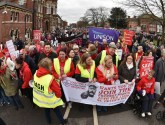 Thousands take to the streets in third Grantham A&E march