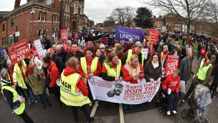 Thousands took part in the third Grantham A&E march. Photo: Steve Smailes for Lincolnshire Reporter