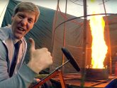 Video: Madcap Stamford inventor creates enormous fire tornado launcher in his backyard