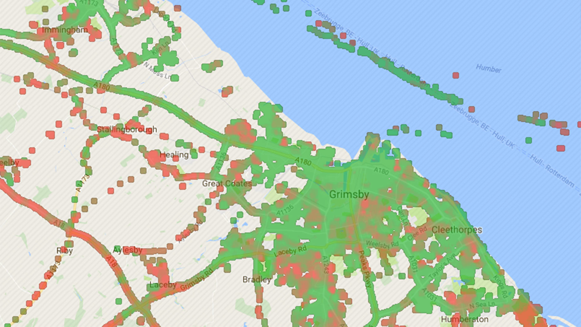 How good or bad is the phone signal where you live Map shows