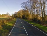 B1225 at Ranby closed after crash