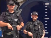 Armed police patrol Skegness seafront after Manchester suicide bombing