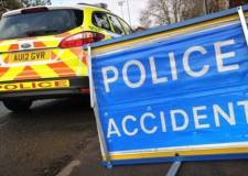A1 closed in both directions after lorry overturns