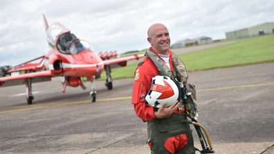 Squadron Leader Mike Ling, Red 10, RAF Red Arrows. Photo: Steve Smailes for Lincolnshire Reporter