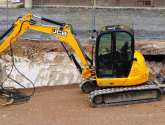 Police car bricked after officers investigate JCB digger theft in Scunthorpe