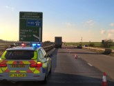 Lane closed on A180 for lorry to have tyre changed