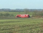 Coca-Cola Christmas truck 'stuck in field' on way to Gainsborough