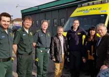 Dad reunited with paramedics who aided son in saving his life