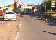 Man hospitalised after Sleaford crash