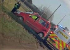 Woman injured in A52 crash near Boston