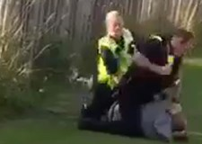 Police boss defends officer who punched man before arrest
