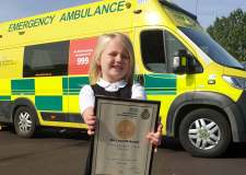 Bravery award for young girl who rescued unconscious mum