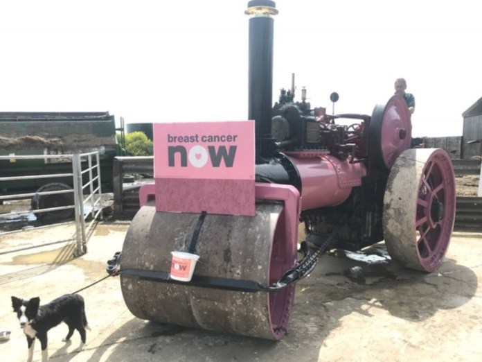 Steam engine painted pink to raise funds for breast cancer