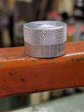 Finished Knurl - B&S 210 -120 Swing Knurl Tool