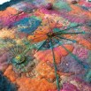 "Detail of wet felted ""Mythical Map"""