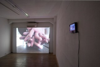 Christmas Present, 2011, digital video projection. Family, 2011, digital video projection.