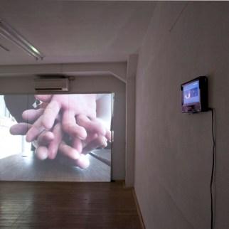 Christmas Present, 2011, digital video projection. Family, 2011, digital video projection.