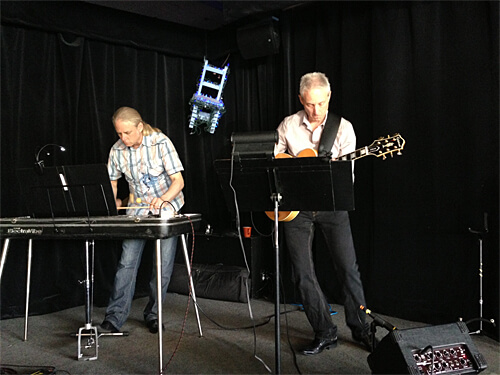 The Cramer Brothers - playing live music during Sunday brunch at Blue Chair Cafe.  sc 1 st  Linda Hoang & Review: Blue Chair Cafe - LINDA HOANG | EDMONTON BLOG