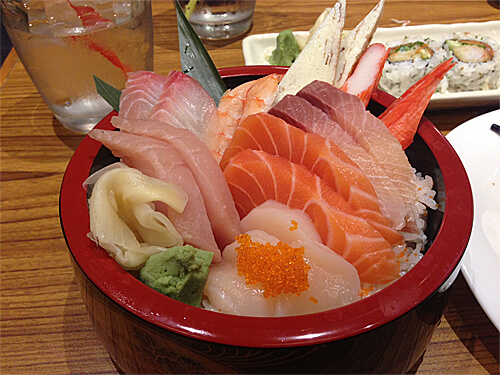 Chirashi Bowl ($22) at Sakai Sushi Bar in Spruce Grove!