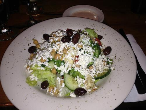 Nicole's Greek salad at The Balkan.