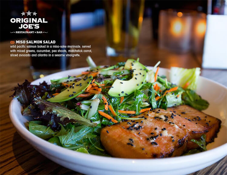 Miso Salmon Salad in Original Joe's new Summer Fresh Menu (2015)