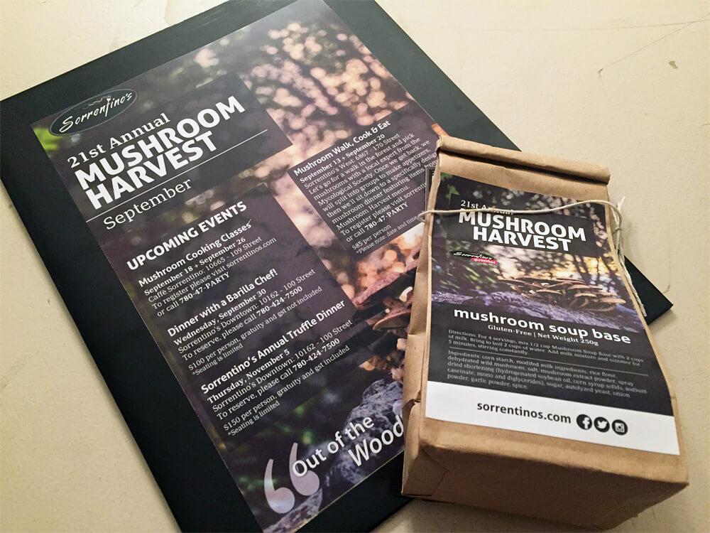 Sorrentinos Edmonton - Mushroom Harvest