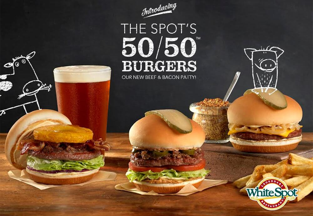 White Spot 50 50 Burger - Hawaiian Burger - Edmonton Restaurants