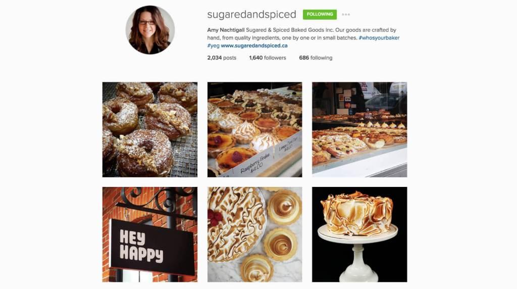 Top Edmonton Instagram Users - sugaredandspiced - Social Media