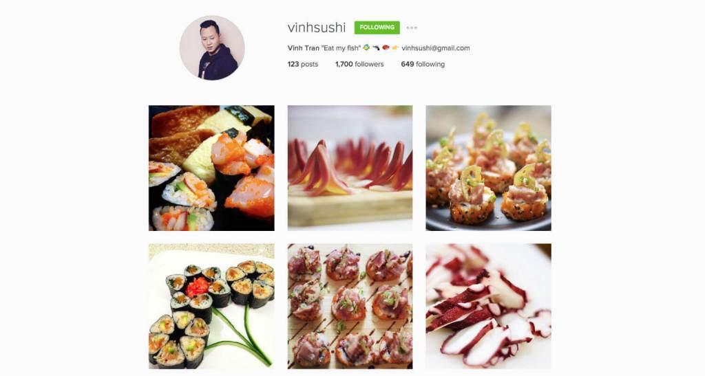 Top Edmonton Instagram Users - vinhsushi - Social Media