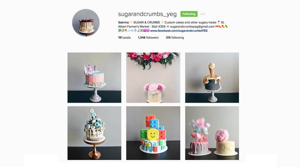 Edmonton Instagram Users - SugarAndCrumbs_YEG - Social Media