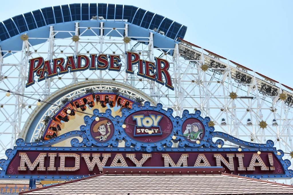 Disneyland California Adventure - Paradise Pier - Amusement Park Rides - California Screamer Toy Story
