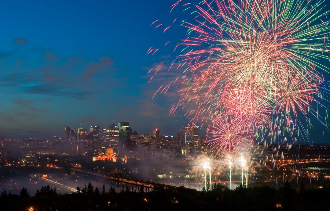 City of Edmonton Photo Gallery - Anthony P Jones Fireworks