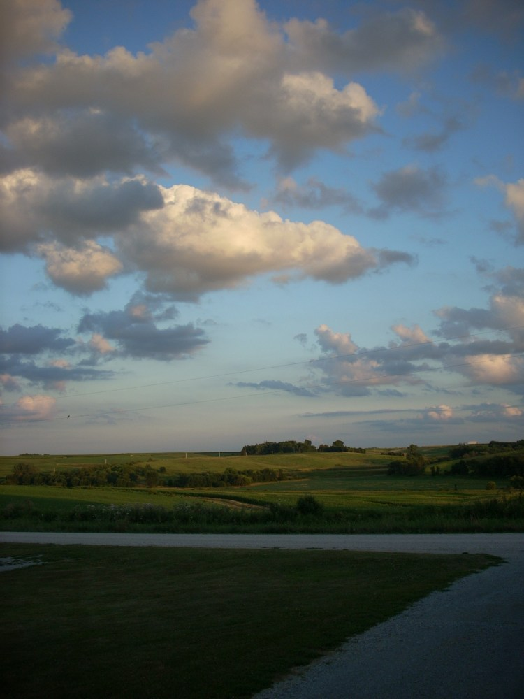 About Linda M. Wolfe contains a photo of the rolling hills of southwest Iowa as that is where she lives.