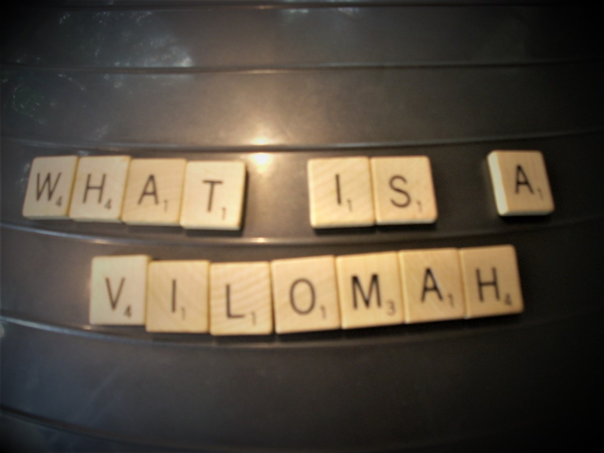 The title, What Is a Vilomah, is spelled in Scrabble tiles.