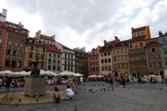 The rebuilt centre of Warsaw