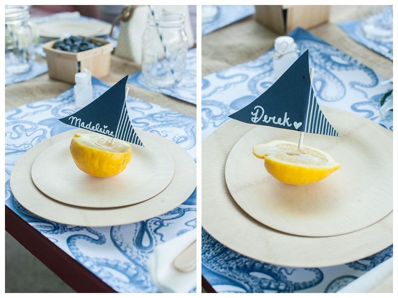 nautical wedding picnic, blue, navy, white, burlap