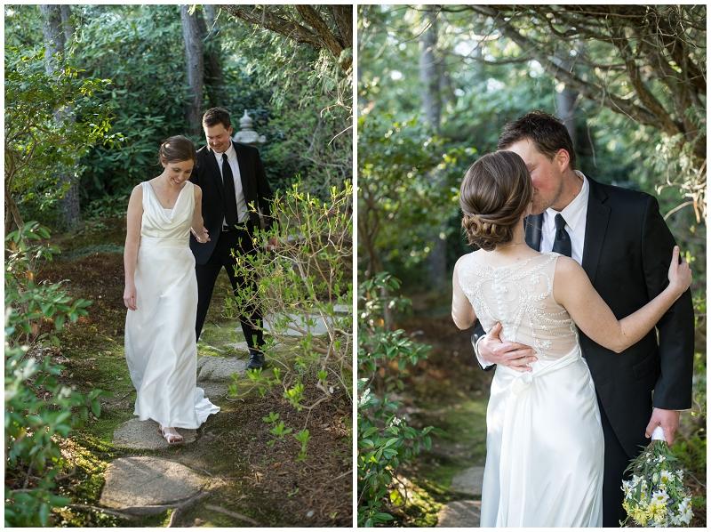 asticou gardens, outdoor intimate wedding