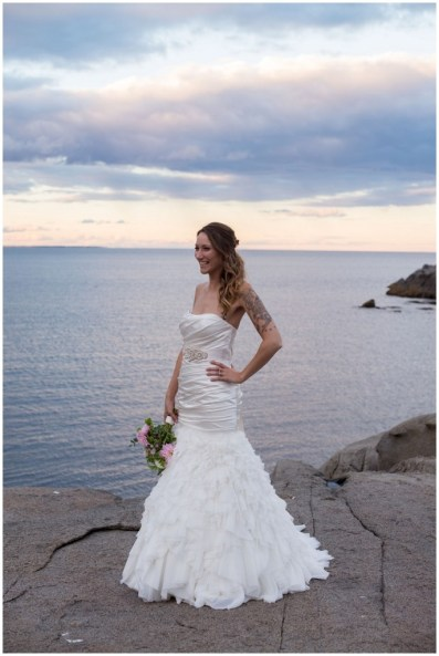 Bustling your Dress Cape Neddick Intimate Wedding Photos by Linda Barry Photography