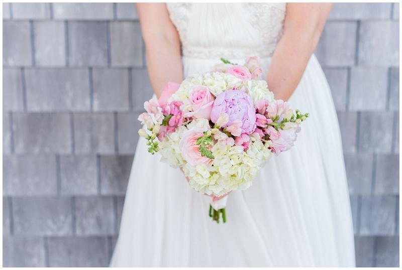 Coastal Maine Wedding Whole Foods Bouquet by Linda Barry Photography