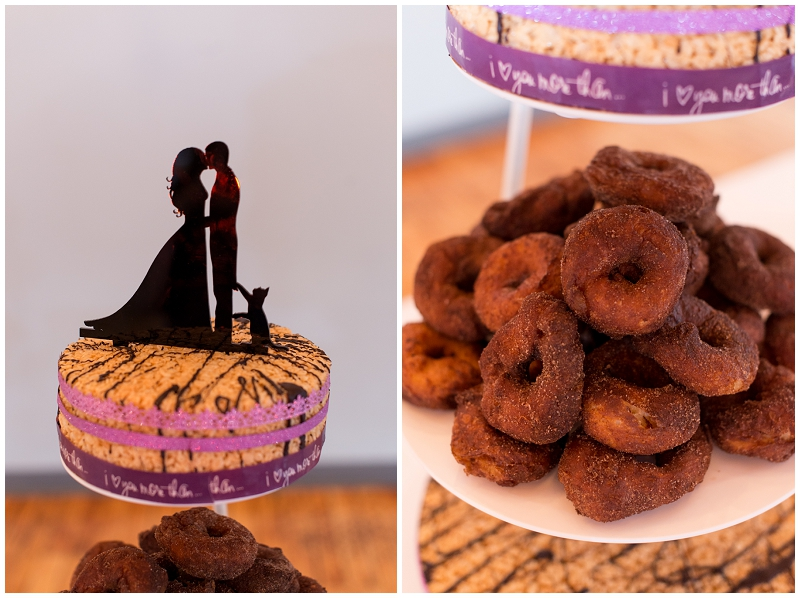 Lattitude Catering Wedding Cake by Linda Barry Photography