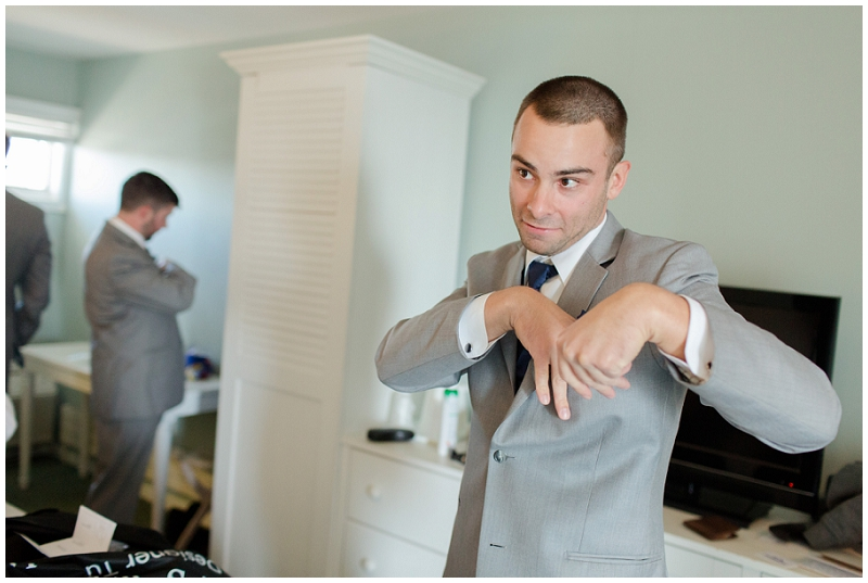 Melanie and Mike were married at Clay Hill Farm in Cape Neddick Maine. Click here to see more beautiful photos by Linda Barry Photography of their burgandy and navy wedding day! Groom prep at the anchorage inn.